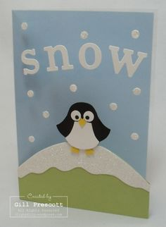 Stampin Up - punch art penguin