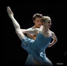 Hugo Marchand and Leonore Baulac in 'Blake Works' by William Forsythe. Paris Opera Ballet 2016. Photo by Isabelle Aubert