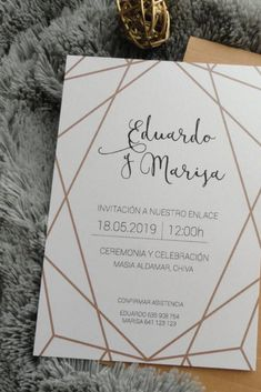 Don't miss the latest trends in bod invitations .- Don't miss the latest trends in wedding invitations for # noviasespaña # bodaespaña - Quince Invitations, Quinceanera Invitations, Wedding Invitations, Rustic Wedding, Our Wedding, Ideas Para Fiestas, Grad Parties, Neue Trends, Unique Weddings