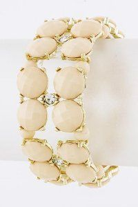 Nude Jeweled Bracelet - Lead Compliant StarShine Jewelry. $16.50