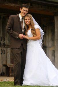 Rustic Country Bringing up Bates Michaela Bride Groom Outdoor Beautiful Wedding Picture Portrait idea