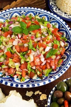 Egyptian salad, Middle Eastern food, Egypt, North Africa, Africa