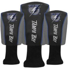 Tampa Bay Lightning Long Neck Golf Club Head Covers 3 - Pack #TampaBayLightning Visit our website for more: www.thesportszoneri.com