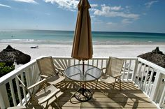 Beachfront balcony at Anna Maria Island Inn