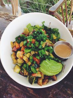 Delicious grilled vegetable salad from Green Leaf Chop Stop.