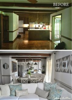 before and after: an old house gets a light, bright makeover