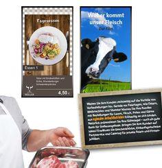Digital Signage Branchenlösung für Metzgereien von PrintScreenMedia
