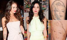 Резултат с изображение за megan fox marilyn monroe tattoo