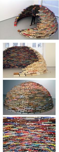 Next time, instead of a sheet fort how about a book igloo WANT