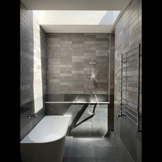 "Anthony Chan on Instagram: ""Natural sunlight in the main bathroom @ Mason St, South Yarra⁠⁠ ⁠⁠ Architect: @chanarchitecture⁠⁠ Builder: @HLCProjects⁠⁠ ⁠⁠ Tiles:…"""