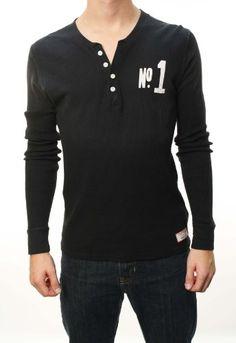 True Religion Men's Black Long Sleeve 1/2 Button « Clothing Impulse
