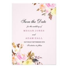 #wedding - #Sweet Pink Peach Floral Save The Date Invitation