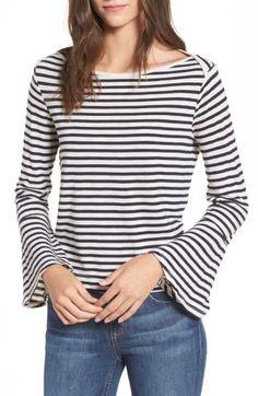 Women's Splendid Stripe Bell Sleeve Top