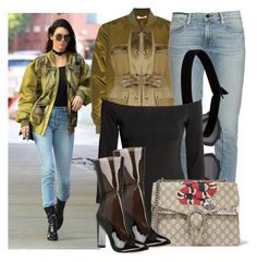 """""""Kendall Jenner"""" by justadream133 ❤ liked on Polyvore featuring Givenchy, Frame Denim, Christian Dior, The Flexx, H&M, Gucci and kendalljenner"""