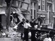 Beelden van het bombardement op Rotterdam
