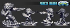 Skylanders SWAP Force Toy Sculpts
