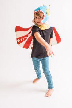 Handmade superhero cape and hat by Lovelane