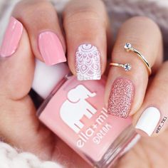 CUTE NAIL ART The perfect nails to complete your chiq looks! Related Fab nail art designs for all of the manicure inspiration you need Short nails. Light Pink Nails, Pink Nail Art, Cute Nail Art, Cute Acrylic Nails, Cute Nails, Fancy Nails, Pretty Nails, Light Colored Nails, Square Nail Designs