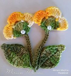 Thread Crochet, Crochet Crafts, Crochet Toys, Crochet Projects, Knit Crochet, 3d Quilling, Quilling Flowers, Quilling Designs, Crochet Flower Patterns