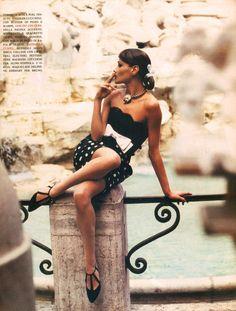 Vogue Italia, March 1992Model: Carla Bruni