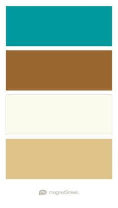 Teal, Bronze, Ivory, and Gold Wedding Color Palette - custom color palette created at MagnetStreet.com