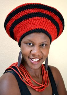 Crochet Zulu Headdress/Hat