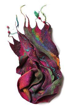 Nuno felted scarf - FeltedPleasure (Marina Shkolnik)