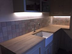 New Neptune Kitchen sold By French Lily. Tiles From Topps Tiles - Batik Range.