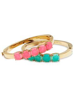 kate spade new york Squared Away Bangle Bracelet Jewelry Party, Jewelry Box, Jewellery, New York Square, Bangle Bracelets, Bangles, One Ring, Kate Spade, Pearl Earrings