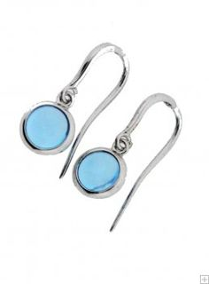 Sterling Silver Genuine Blue Topaz Pendant and Earrings