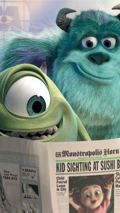 Disney Pixar, Disney Movies, Disney Phone Wallpaper, Wallpaper Iphone Cute, Wallpaper Lockscreen, Monsters Inc, Kawaii Disney, Pinturas Disney, Disney Background