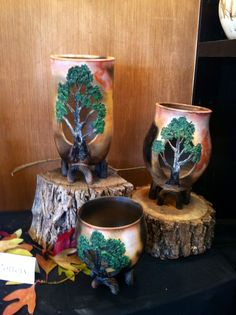 Awesome pottery done by an artist who came to the Ozarks Crafts Fair in fall of 2012!