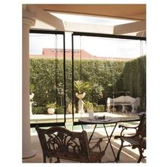 $129 - Filigree Plaza Outdoor Blind Clear 210 x240cm