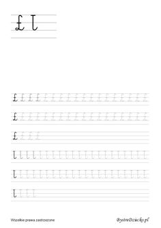 Nauka pisania dla dzieci, ł pisane, pomoc w kształceniu grafomotoryki, Anna Kubczak