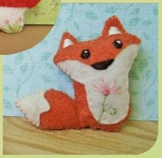 woodland creatures felt animals pattern by Aimee Ray: raccoon, rabbit, fox, owl