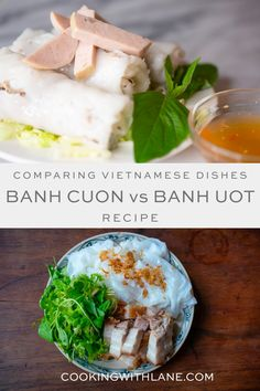 Learn the differences between banh cuon and banh uot - two delicious steamed rice rolls recipe that hail from Vietnam. These Vietnamese rice rolls are an absolute must have! #asianfood #steamedricerolls #vietnamesefood #vietnamesemeal