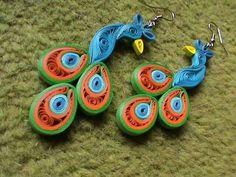Peacock variation for earrings