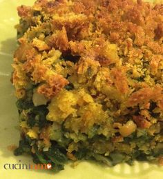 Tortino bieta e ceci con crumble di pane giallo http://cuciniamo.mammeonline.net/tortino-bieta-e-ceci-con-crumble-di-pane-giallo/