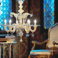Blue Romantic - Da Ponte  #yourmurano #chandeliers #lighting