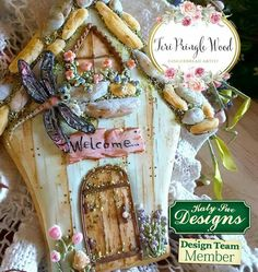 Fairy house, gingerbread, keepsake, decorated cookies, gingerbreadart, dragonfly,