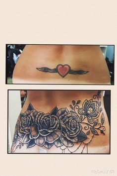 Cover up tattoos before and after. Tattooist Diamond Tattoo NYC