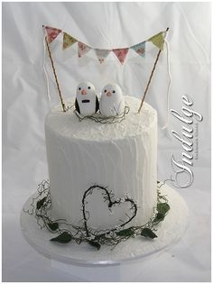 Hand made bunting wedding cake, #wedding #cake
