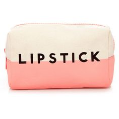 Forever 21 Lipstick Love Makeup Pouch ($6.90) ❤ liked on Polyvore featuring beauty products, beauty accessories, bags & cases, bags, makeup, beauty, accessories, fillers, make up bag and toiletry bag