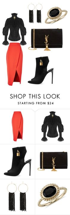 """""""Untitled #38"""" by perianuramona on Polyvore featuring C/MEO COLLECTIVE, Tom Ford, Yves Saint Laurent, Bebe and Blue Nile"""