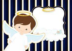 Está preparando o Batizado do seu filho? Baixe gratis o novo kit festa Batizado Menino Azul Marinho e Branco com vários rótulos, convite e moldes gratuitos