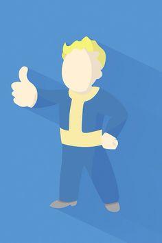 Fallout 4 minimal wallpaper iphone