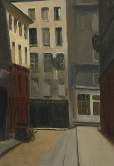 Edward Hopper, Calle de París, 1906. Óleo sobre tabla, 30.5 × 23.7 cm, Withney Museum of American Art, Nueva York