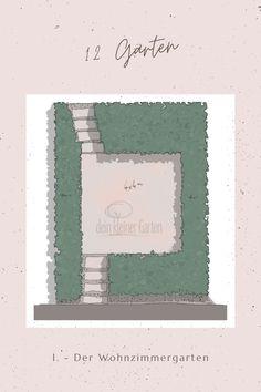 dieser #Wohnzimmergarten ist der erste Beitrag in der Reihe #12Gärten in einfache Konzepte für einen #kleinenGarten auf weniger als 50 Quadtratmeter vorgestellt werden. #DIV Lawn, Living Room