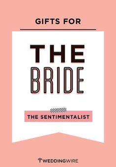 Thoughtful gift ideas for the thoughtful bride to be! #giftguide