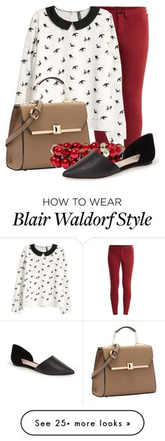 """Blair Waldorf: The Look for Less"" by taylor0016 on Polyvore featuring VILA, H&M, Vieste Rosa and Vince Camuto"